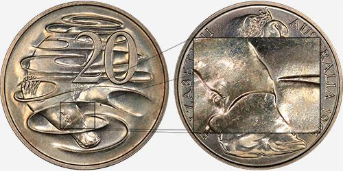 20 cents 1966 - Gap - Canberra mint