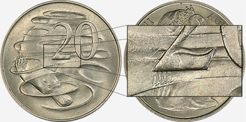 20 cents 1966 - Gap Wavy 2 - London mint