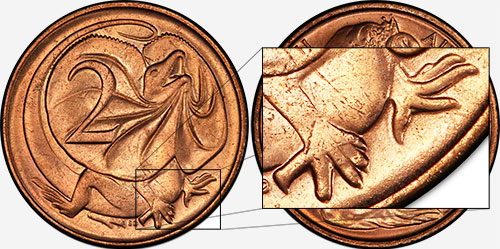 2 cents 1966 - Sharp claws - Canberra mint