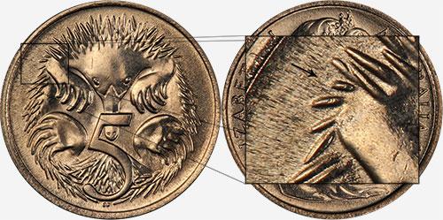 5 cents 1966 - Short spine - Canberra mint