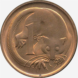 Feather-tail glider - 1 cent - Australian decimal coin