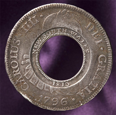 Holey dollar. National Museum of Australia