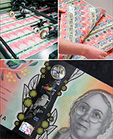 The new $20 banknotes in production, February 2019