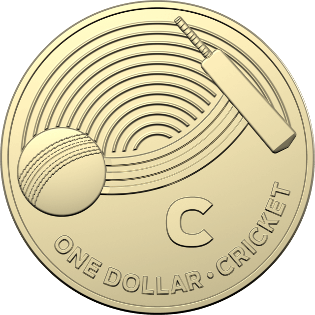 1 dollar 2019 - C - Cricket - The Great Aussie Coin Hunt