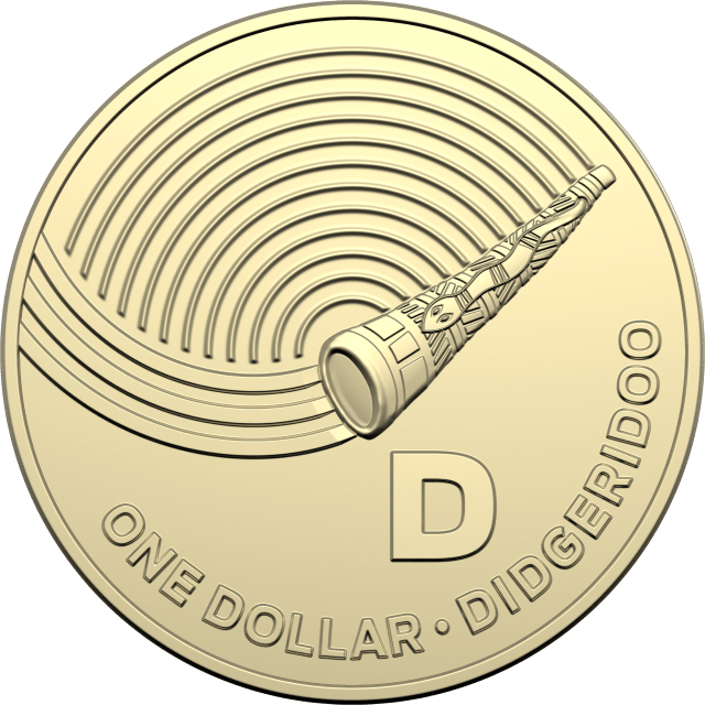 1 dollar 2019 - D - Didgeridoo - The Great Aussie Coin Hunt