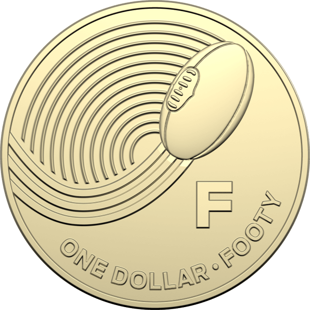 1 dollar 2019 - F - Footy - The Great Aussie Coin Hunt