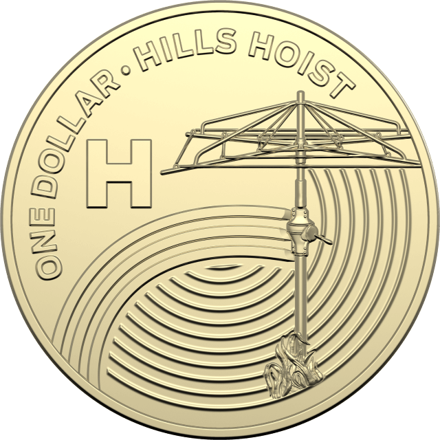 1 dollar 2019 - H - Hills Hoist - The Great Aussie Coin Hunt