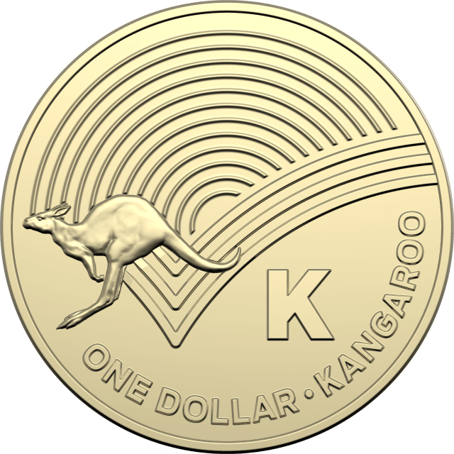 1 dollar 2019 - K - Kangaroo - The Great Aussie Coin Hunt