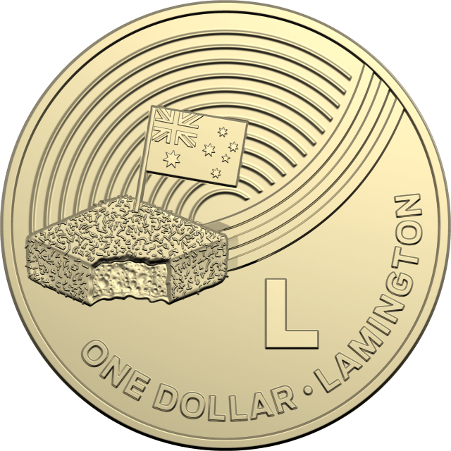 1 dollar 2019 - L - Lamington - The Great Aussie Coin Hunt