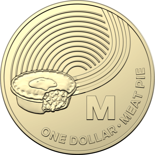 1 dollar 2019 - M - Meat Pie - The Great Aussie Coin Hunt