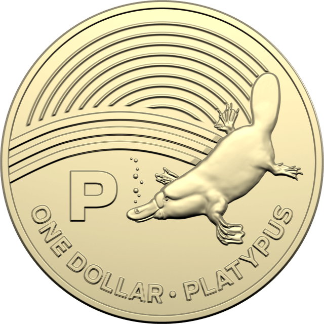 1 dollar 2019 - P - Platypus - The Great Aussie Coin Hunt