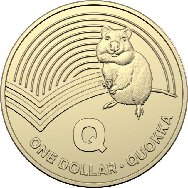 1 dollar 2019 - Q - Quokka - The Great Aussie Coin Hunt