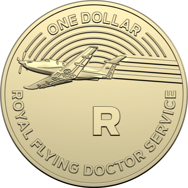 1 dollar 2019 - R - Royal Flying Doctor Service - The Great Aussie Coin Hunt