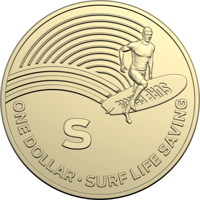 1 dollar 2019 - S - Surf Life Saving - The Great Aussie Coin Hunt