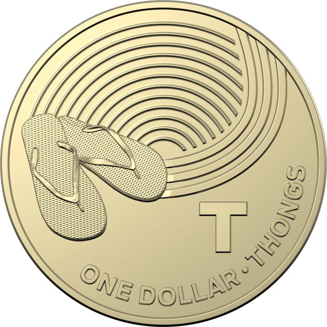 1 dollar 2019 - T - Thongs - The Great Aussie Coin Hunt