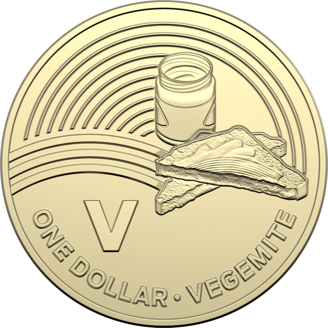 1 dollar 2019 - V - Vegemite - The Great Aussie Coin Hunt