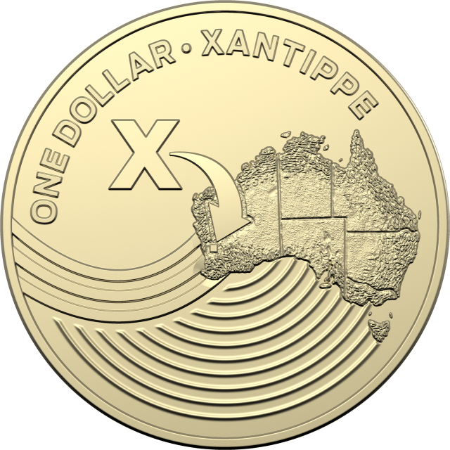 1 dollar 2019 - X - Xantippe - The Great Aussie Coin Hunt