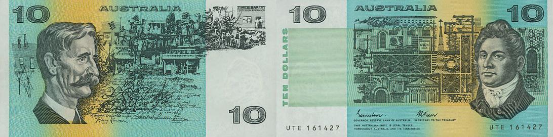 Ten dollars 1966 to 1993 - Australia Banknote
