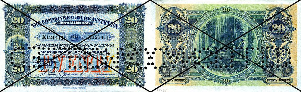 Twenty pounds 1914 to 1938