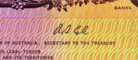 AS Cole - Australian banknote signature