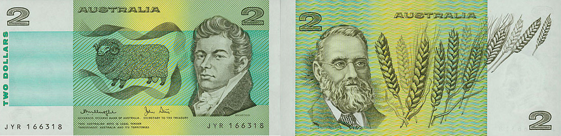 Two dollars 1966 to 1988 - Banknote of Australia