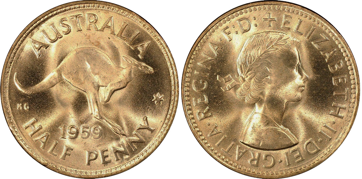 Half Penny 1959