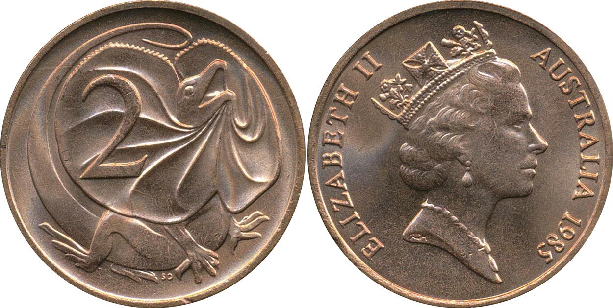 1988 2 cent unc coin