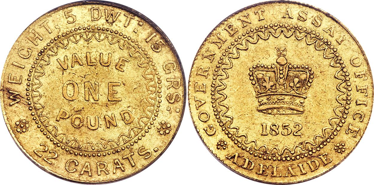 Adelaide One Pound 1852